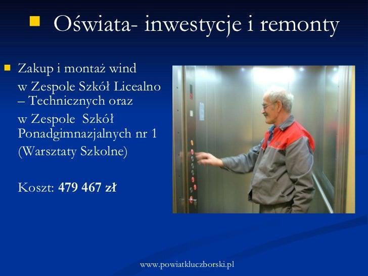 <ul><li>Zakup i montaż wind  </li></ul><ul><li>w Zespole Szkół Licealno – Technicznych oraz  </li></ul><ul><li>w Zespole  ...