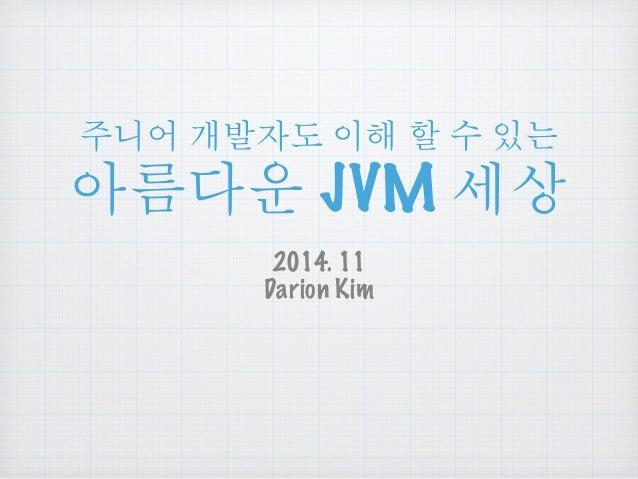 ఁ࿌ ੭෧ၴ ၦጄ ዾ ༘ ၰ௴ ྤఋဪ JVM ໞື  2014. 11  Darion Kim