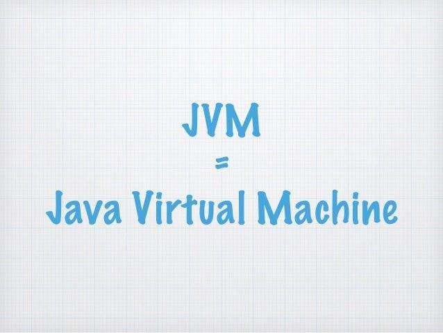 JVM  =  Java Virtual Machine