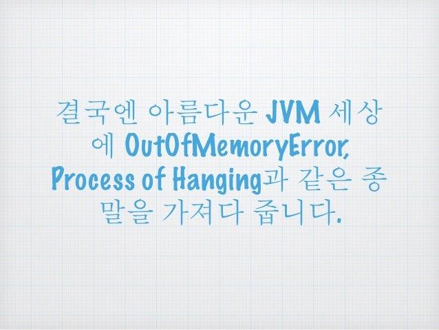 છ ྤఋဪ JVM ໞື   OutOfMemoryError,  Process of Hanging ੪ၔ Ⴖ  ၕ ਜ਼Ⴆఋ ვఁఋ.