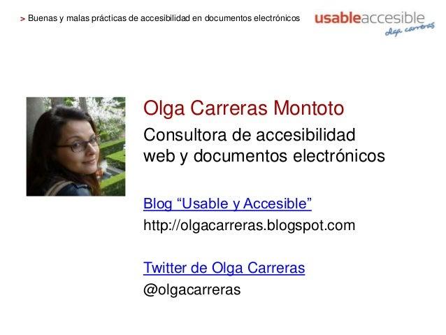 Buenas y malas prácticas de accesibilidad en documentos electrónicos Slide 2