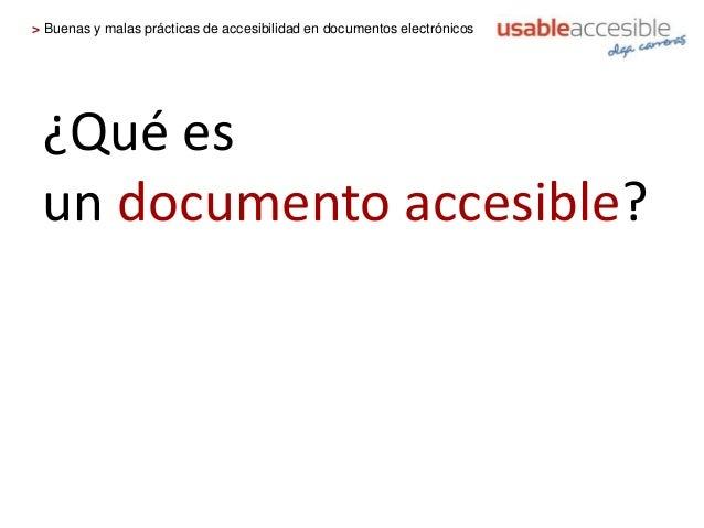 Buenas y malas pr cticas de accesibilidad en documentos for Que es accesibilidad