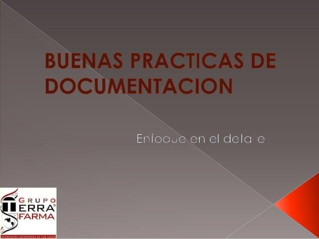 Evolución de las Buenas  Practicas de Documentación
