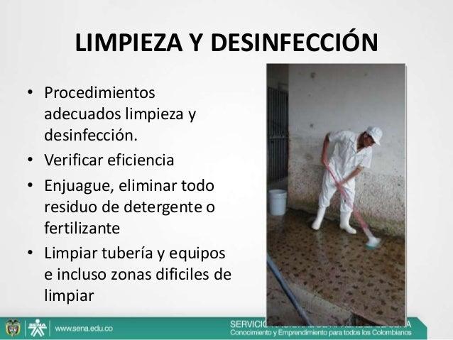 Buenas practicas en explotaciones lecheras Limpieza y desinfeccion de equipos