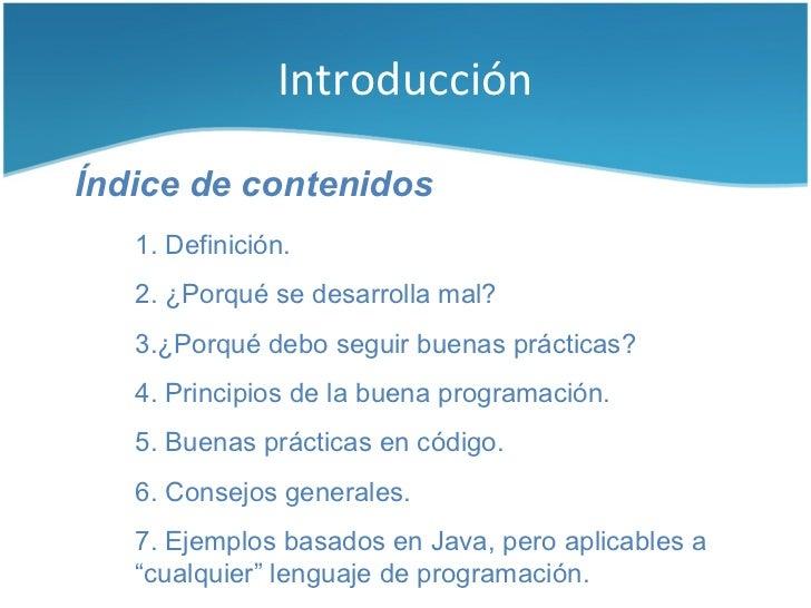 Buenas prácticas para la construcción de software Slide 2