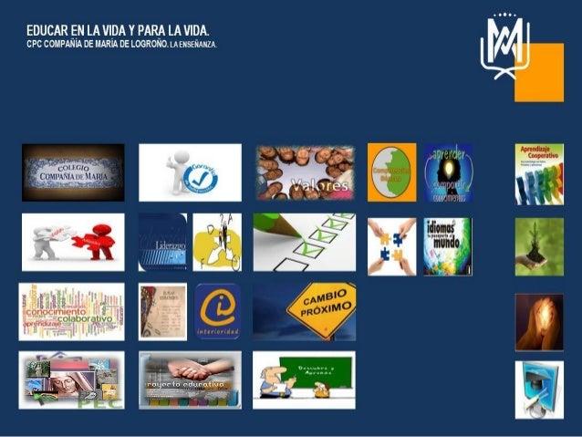 """Madrid, a 2 de abril de 2014 CPC Compañía de María de Logroño La Enseñanza """"Educar en la vida y para la vida""""""""Educar en la..."""