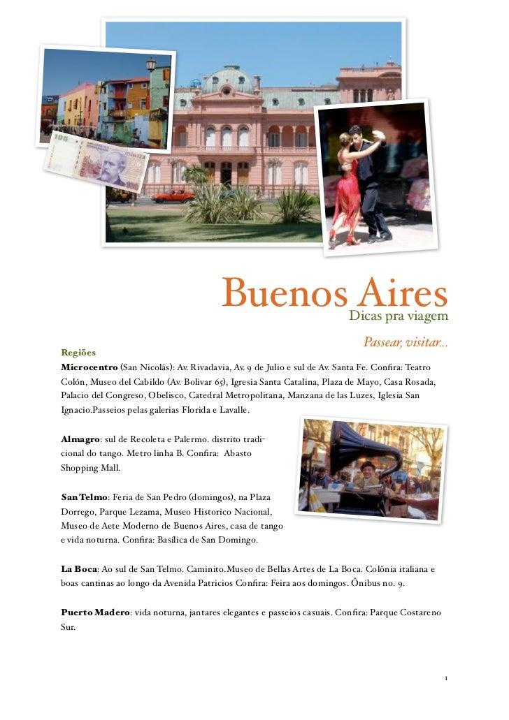 Buenos Aires                   Dicas pra viagem                                                                           ...