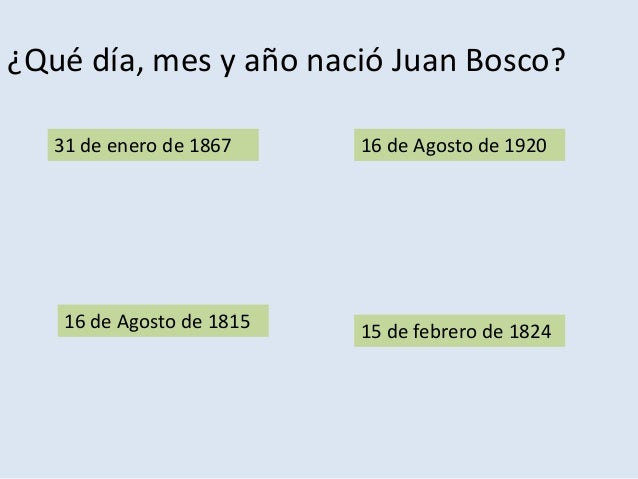 Test sobre Don Bosco realizado por Alumnos Slide 3