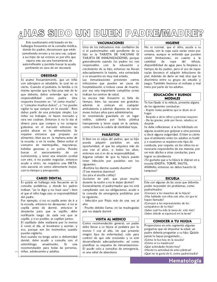 Este cuestionario está basado en los                      VACUNACIONES                                       HIGIENEhallaz...