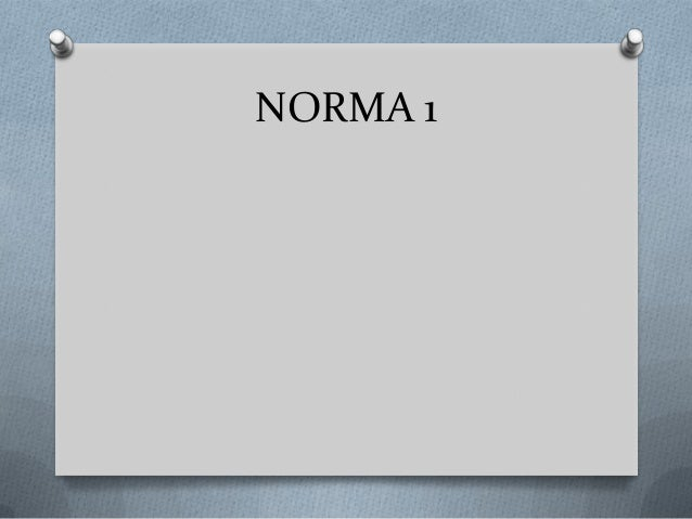 NORMA 1