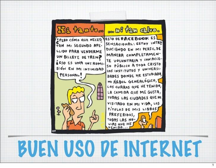 BUEN USO DE INTERNET   1