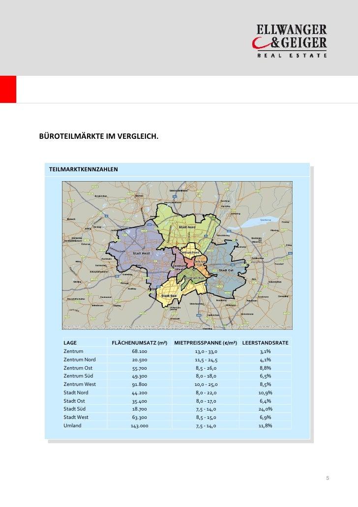 BÜROTEILMÄRKTE IM VERGLEICH.  TEILMARKTKENNZAHLEN     LAGE           FLÄCHENUMSATZ (m²)   MIETPREISSPANNE (€/m²) LEERSTAND...