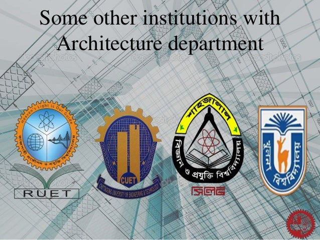 Some Other Institutions With Architecture Department