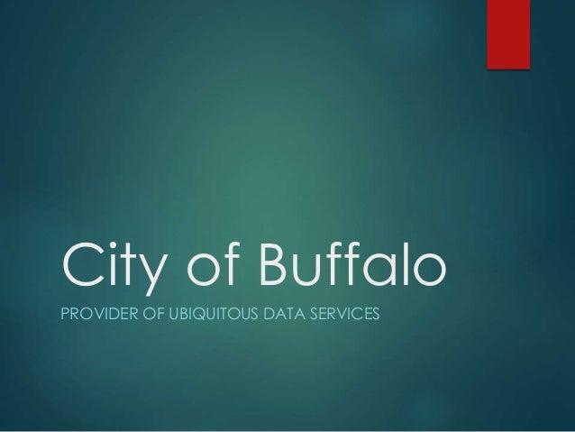 City of Buffalo PROVIDER OF UBIQUITOUS DATA SERVICES