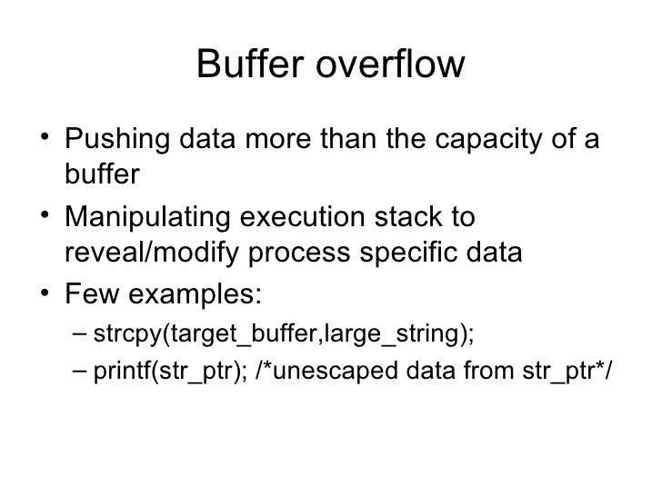Buffer Overflows Slide 3