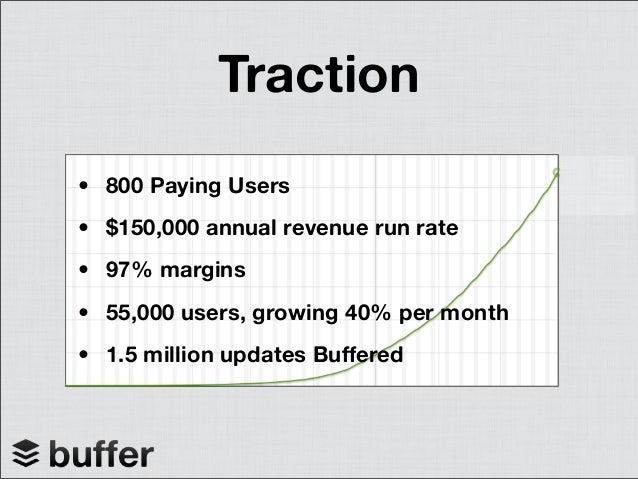 Milestones- Launched web appJanuary 2011- 55,000 users ($150K revenue)October 2011- Launch the APIOctober 2011- Integrated...