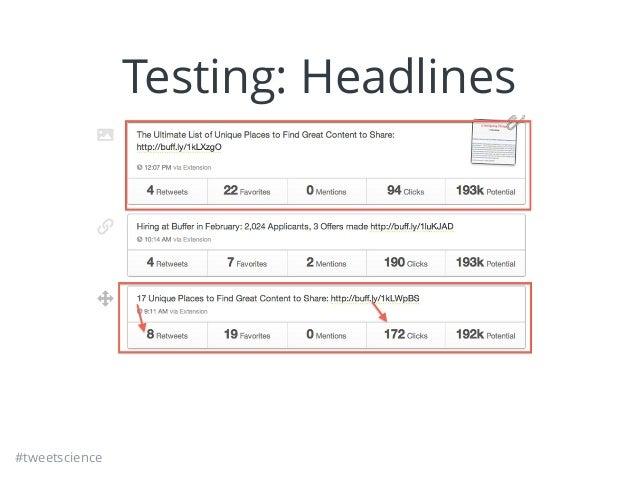#tweetscience Testing: Headlines