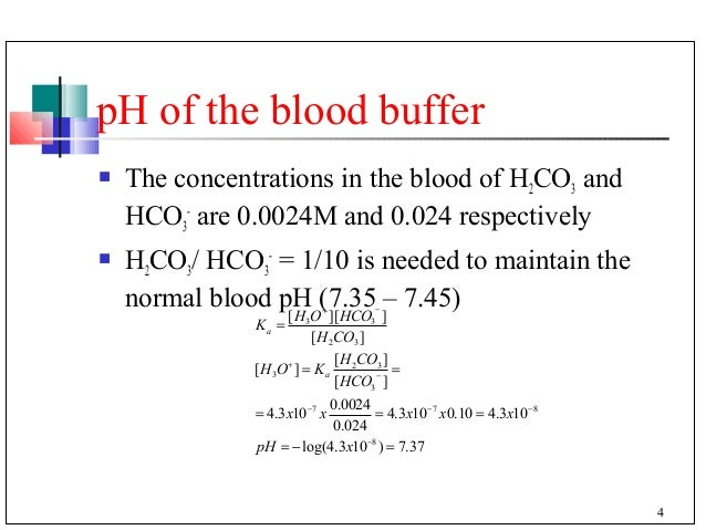 Buffer in the blood