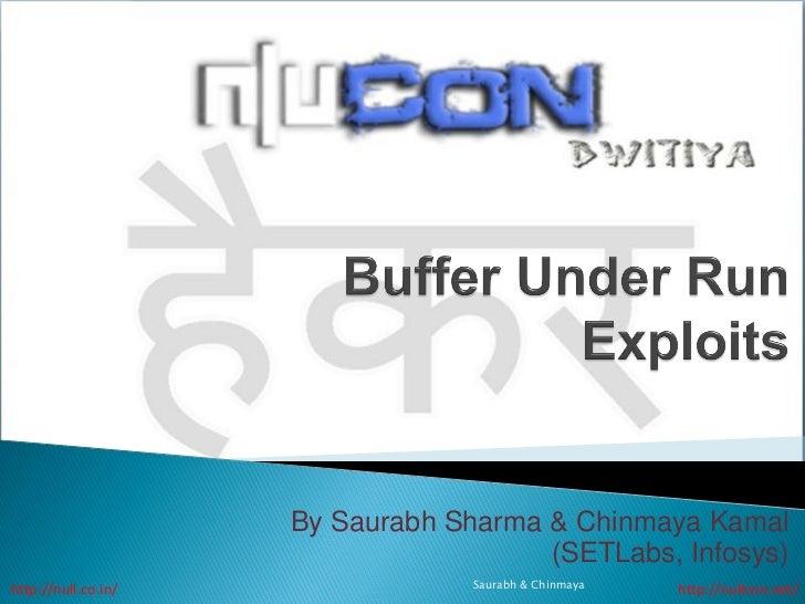 By Saurabh Sharma & Chinmaya Kamal                                       (SETLabs, Infosys)http://null.co.in/             ...