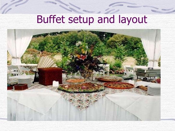 ... 26. Buffet Setup ...