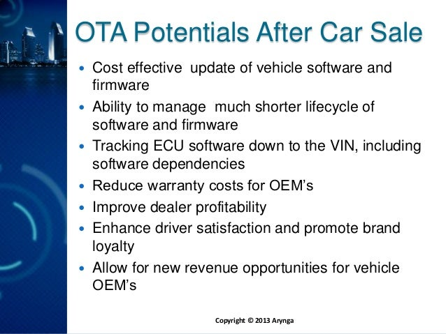 Arynga CEO, Walter Buga at Automotive Linux Summit, 5/2013 Slide 2