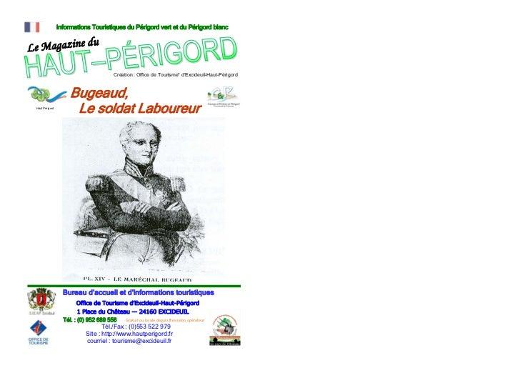 Informations Touristiques du Périgord vert et du Périgord blanc                                   u Le Magazine d         ...