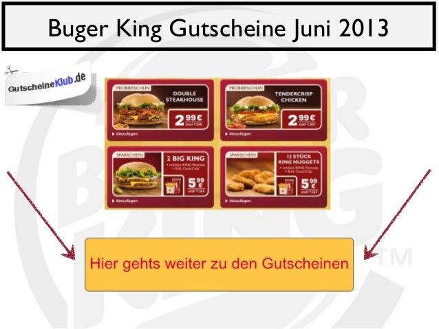 Buger King Gutscheine Juni 2013