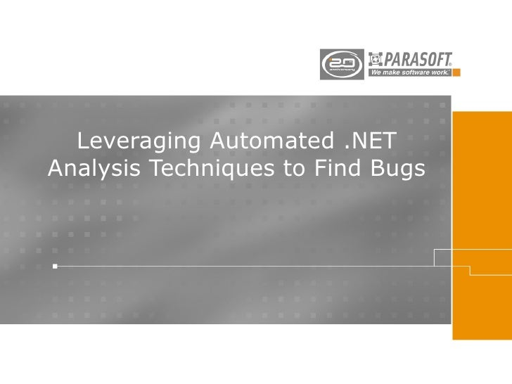 Leveraging Automated .NET Analysis Techniques to Find Bugs