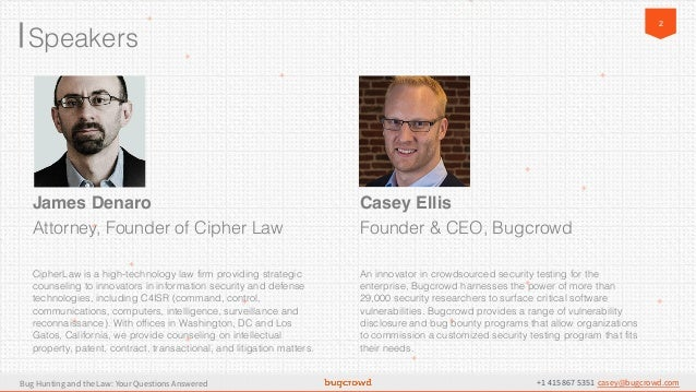 Bug Bounty Logistics and Legalities: Your Questions Answered Slide 2