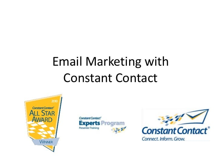 Email Marketing with Constant Contact<br />