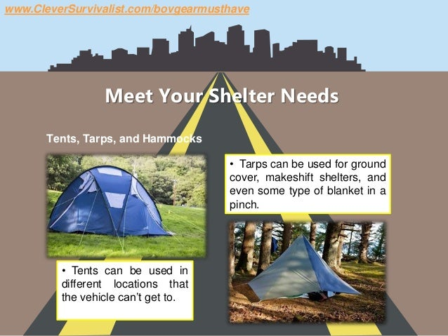 Shtf Shelter: Bug Out Vehicle (BOV) Gear You Must Have When SHTF