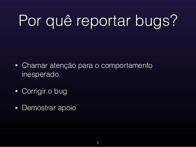 Bugreport 101 Slide 3