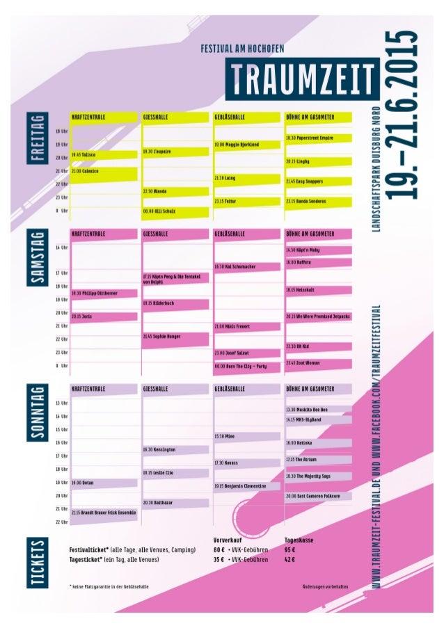 Traumzeit Festival 2015: Bühnen, Bands und Uhrzeiten