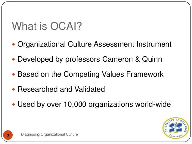 One best way to diagnose organizational culture for Organizational culture assessment instrument template
