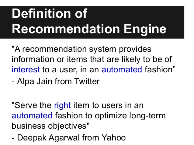 It Recommendation: Buidling Large Scale Recommendation Engine