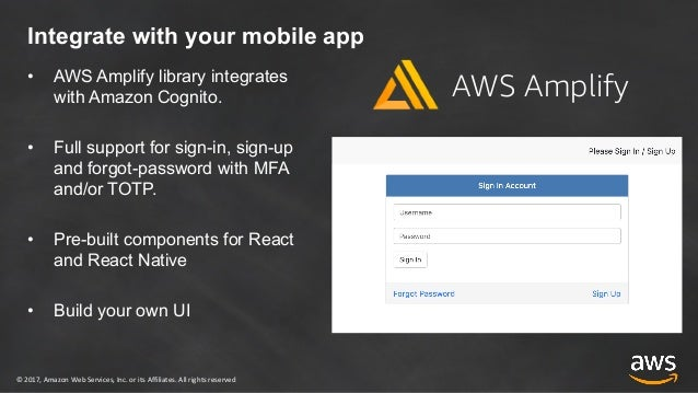 Aws amplify cognito hosted ui