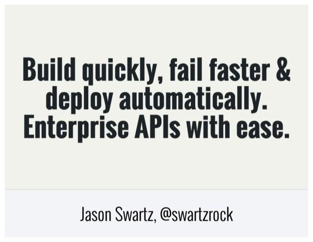 APICon SF - Enterprise APIs With Ease