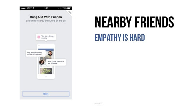 Nearby Friends Empathyis hard ©	Facebook