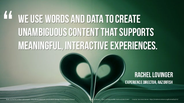 We use wordsand data tocreate unambiguouscontentthatsupports meaningful,interactive experiences. Rachel Lovinger Experienc...
