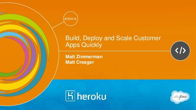 Track: Developers  #CNX14  #CNX14  Build, Deploy and Scale Customer  Apps Quickly  Matt Zimmerman  Matt Creager