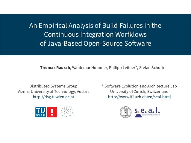 An Empirical Analysis Of Build Failures In The Continuous