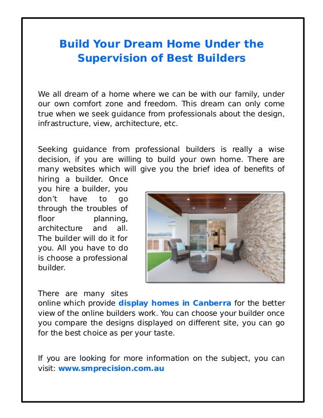 Build Your Dream Home Under The Supervision Of Best Builders We All Dream  Of A Home