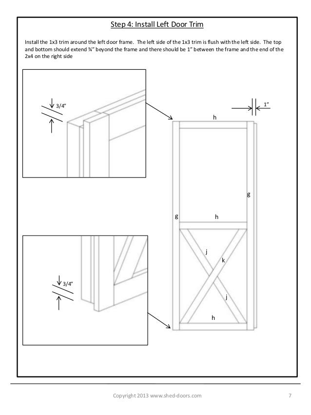 Build Your Own Shed Doors Rh Slideshare Net Framing Windows In Shed Making  A Shed Door