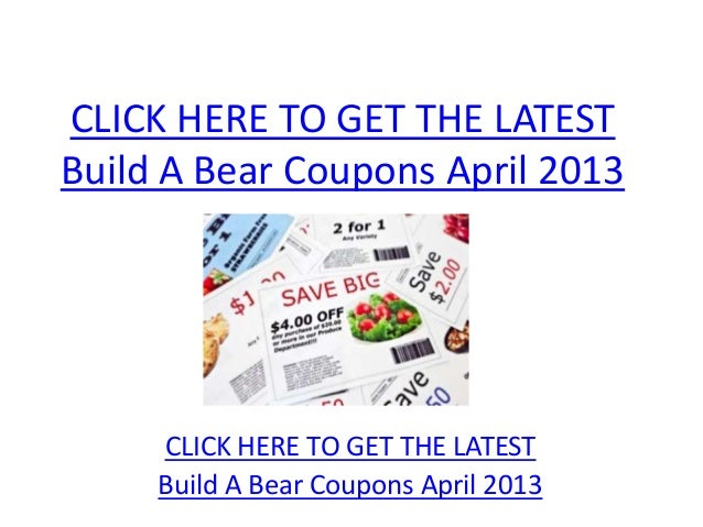 picture relating to Build a Bear Coupons Printable titled Create A Undergo Discount coupons April 2013 - Printable Establish A Undergo