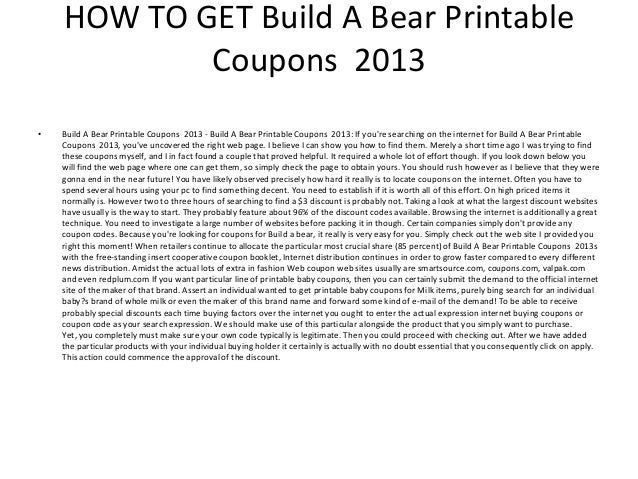 build a bear printable coupons 2013 2