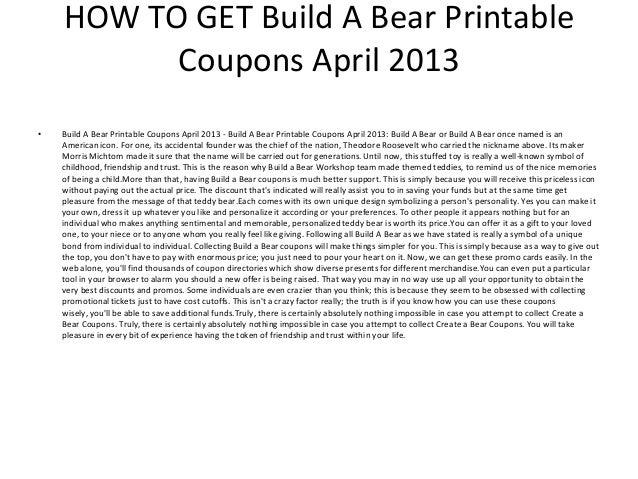 photo about Build-a-bear Printable Coupons titled Create A Go through Printable Discount codes April 2013 - Acquire A Go through
