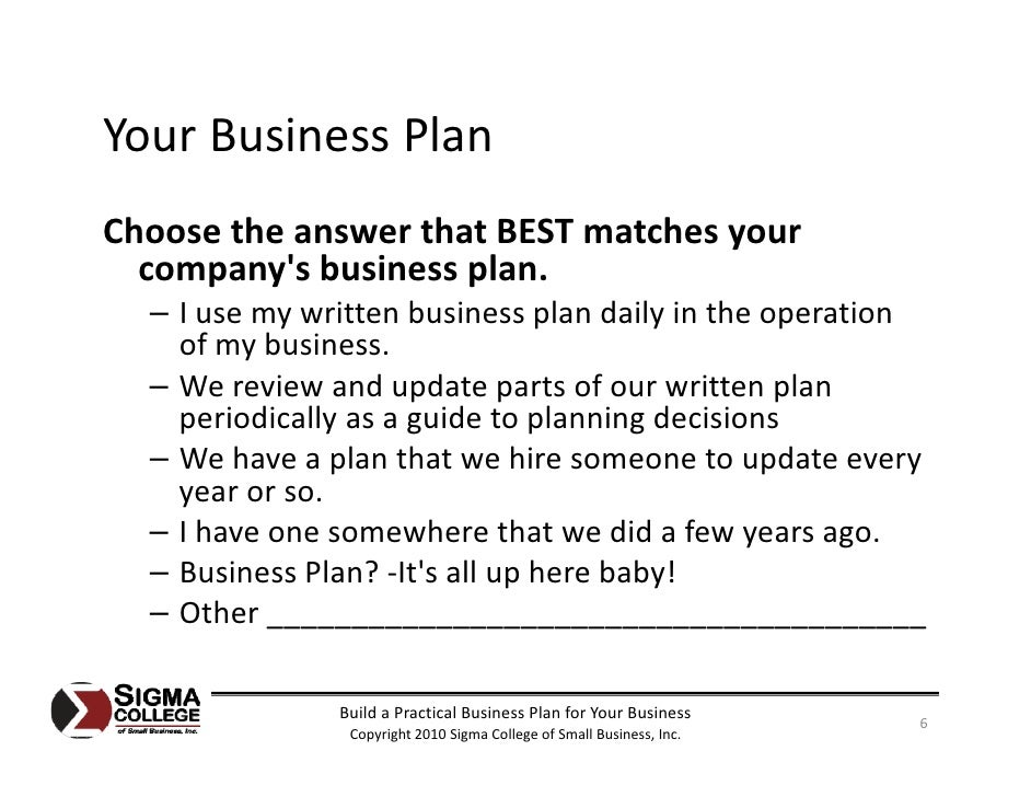Build A Practical Business Plan