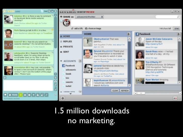 1.5 million downloads     no marketing.