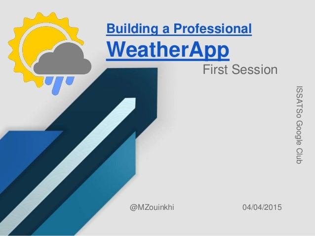 Build a professional weather app - Sunshine