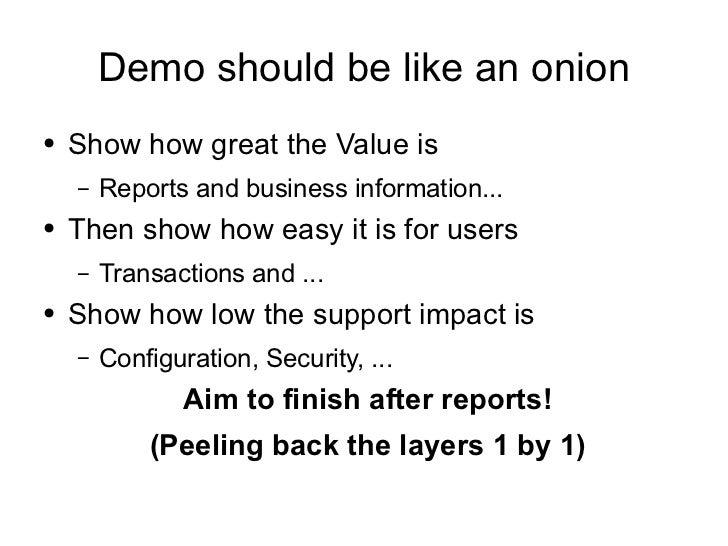 how to create a demo